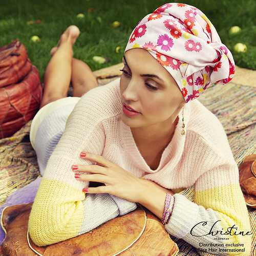 Bonnet Boho Spirit avec foulard amovible - Élite Hair International 0